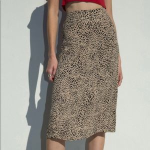 Brandy Melville Cheetah Print Midi Skirt